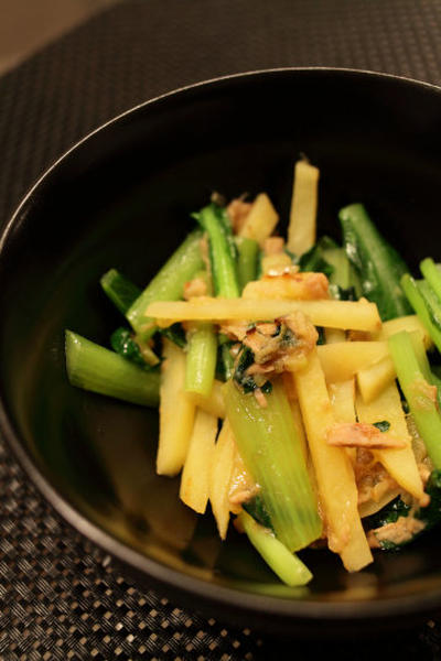 小松菜とツナの炒め物