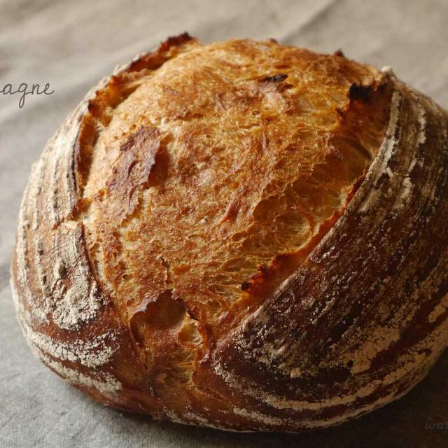 ライ麦入りのカンパーニュ♪ オーバル型って。。。