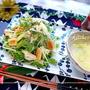 九条ネギと油揚げクルトンのサラダ(テーブルビネガー)&長野県お土産 by 桃咲マルクさん