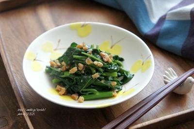【レシピ】空芯菜と干しえびの炒めもの