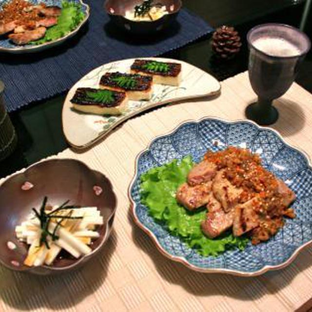 豚ロースの香煎焼風&豆腐田楽