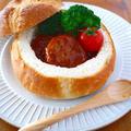 煮込みハンバーグポットパン♪クリスマスパーティーに作りたい簡単おもてなしレシピ!お子様も女子も大喜び by みぃさん