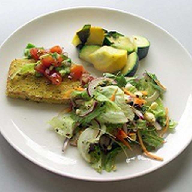葛藤(豆腐カツの野菜プレート)