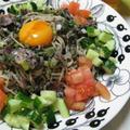 野菜たっぷり黒胡麻蕎麦(レシピ)
