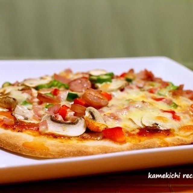 市販のピザ台で「混ぜ混ぜミックスピザ」&「ルクエで簡単茄子とタラのバジルソース」&撮影無事終了!