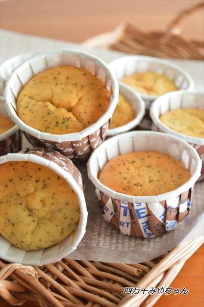 混ぜて焼くだけ!ロイヤルミルクティー チーズケーキ風マフィン