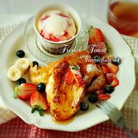 ♡フランスパンde作る♪とろける食感♡至福のフレンチトースト♡【ひらめき朝食*簡単*おやつ】