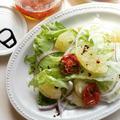 自家製セミドライトマトのハーブオイル漬けとグレープフルーツのサラダ