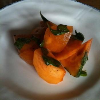 柿のサラダ=お料理教室編=