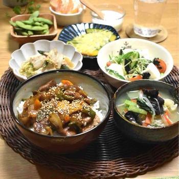 【レシピ】豚肉と野菜の甘酢丼✳︎簡単✳︎野菜もたっぷり✳︎疲労回復