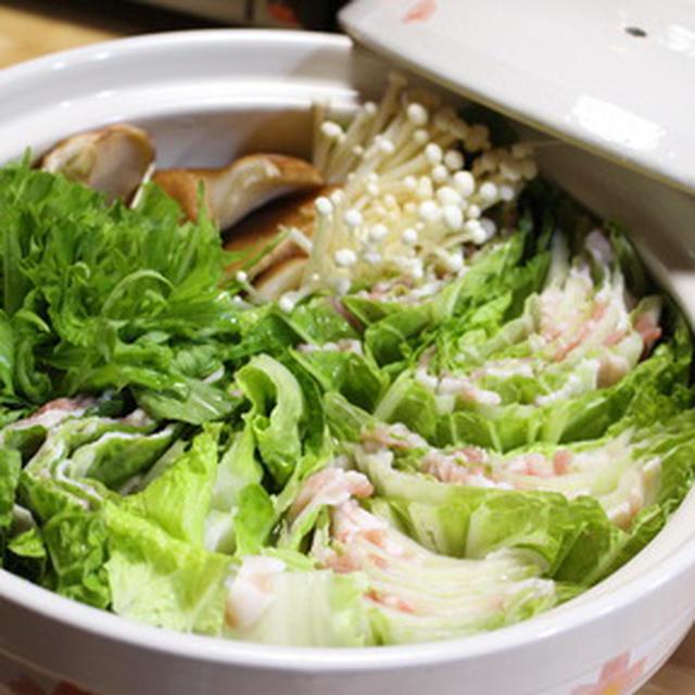 365日レシピNo.325「豚肉と白菜の重ね鍋」
