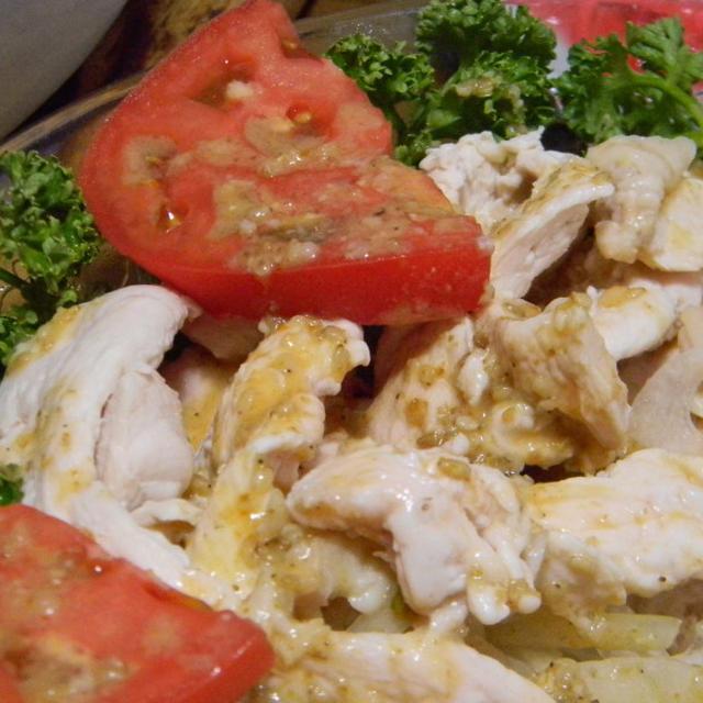 鶏冷しゃぶしゃぶ&茄子とトマトのグラタン