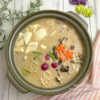 【レシピ】材料シンプル、絶品豆乳鍋