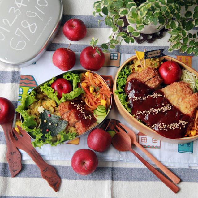【親子弁】長崎のご当地グルメ!トルコライス弁当~Curry fried rice & Pork cutlet bento