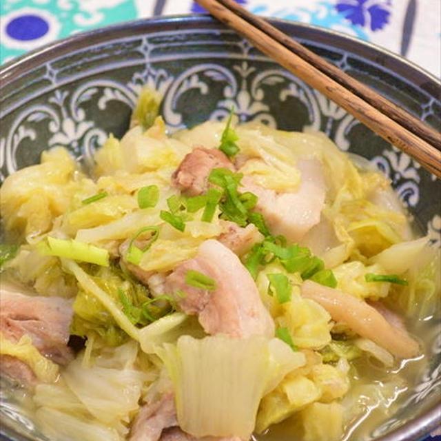 簡単!白菜と豚バラ肉のバターぽん酢レンジ蒸し ☆