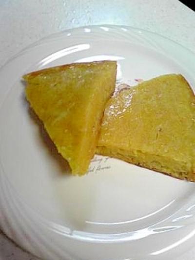 炊飯器で柿ホットケーキ