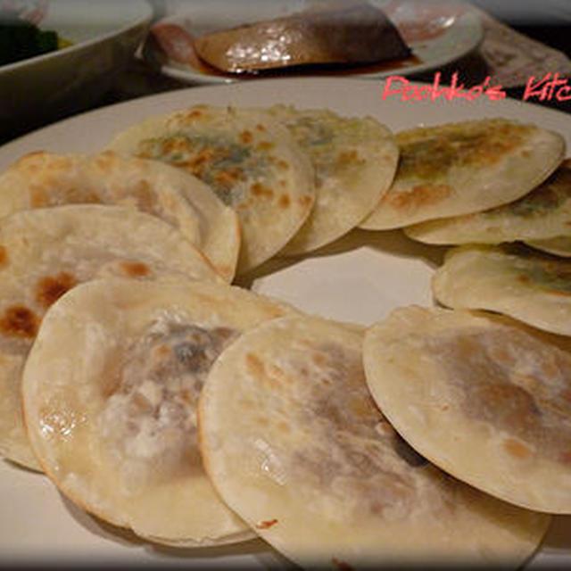 ネギ納豆の餃子はさみ焼き