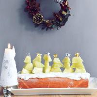 メロンツリーのクリスマスロールケーキ*耳すけサンタのおまけ