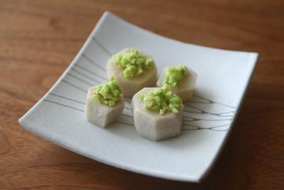 里芋とずんだ味噌の前菜