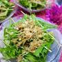水菜のサラダ♪オススメのナッツとドレッシングの食べ方
