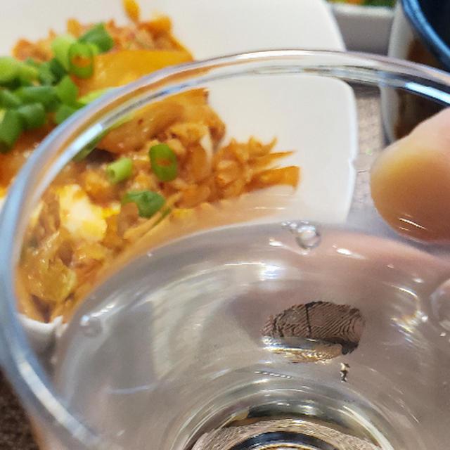 「玉の光」と豚キムチ冷奴と、水餃子