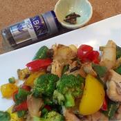 カラフル野菜ガーリックチキン