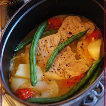 豚ロースと野菜のオレンジ煮込み