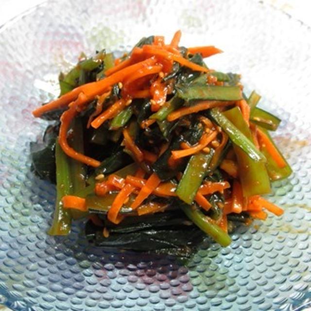 小松菜コチュジャンムチム&コンジャバン
