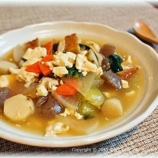 【だしが命!豆腐とたっぷり野菜のとろみ煮】
