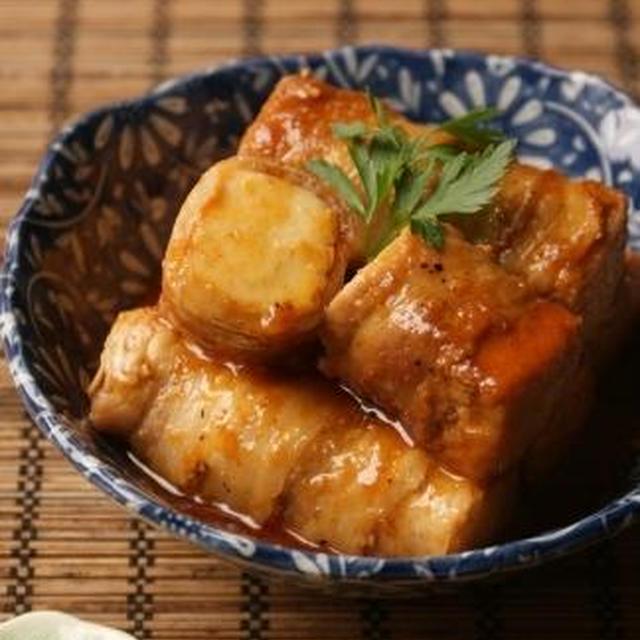 厚揚げ豚巻きのこっくりコチュヂャン煮