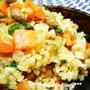 炒り大豆とさつま揚げ・昆布の炊き込みご飯♪~節分のお豆利用~