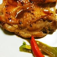 アニス風味の鶏肉の甘辛焼き