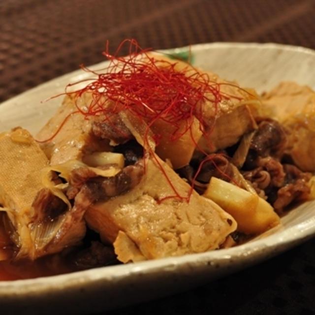 すっぱ 肉豆腐 ~鶏のすっぱ煮の煮汁の再利用~