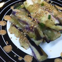 【レシピ】蒸し茄子サラダ