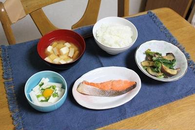 なすと小松菜の炒めものと長芋とうずらの玉子の小鉢でうちごはん(レシピ付き)