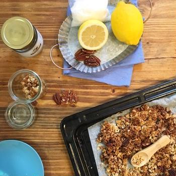【レシピ】レモンとココナッツの爽やか自家製グラノーラ