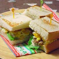 照り焼き風チキンと玉子の一口サンド