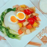 カラフル野菜で☆酢豚風餡掛けご飯☆