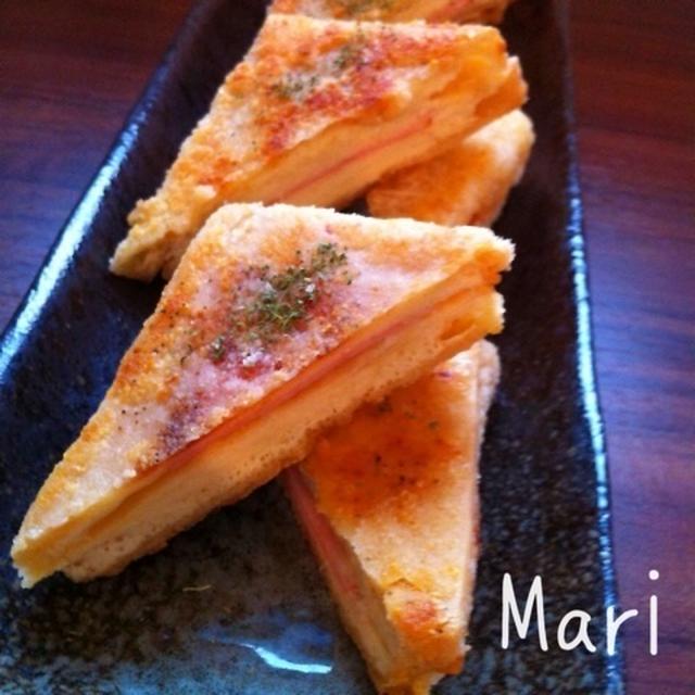 サクッとジューシー♡高野豆腐のハム&Wチーズ揚げ / 2歳半検診