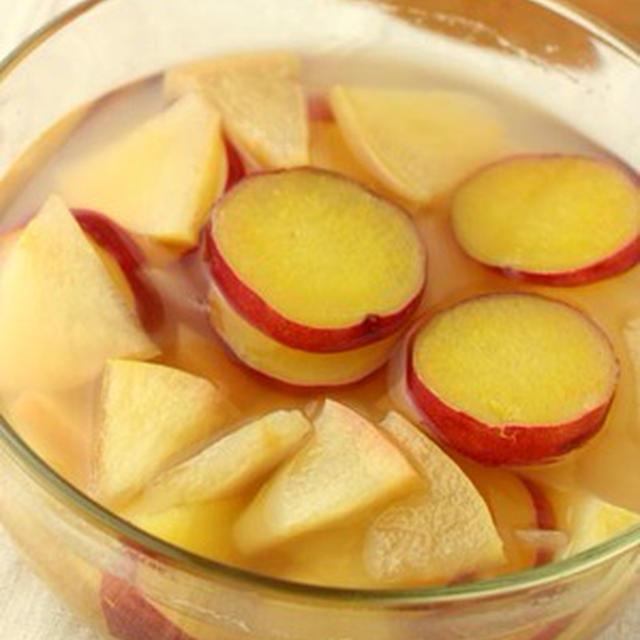 夏のひんやりデザート☆「サツマイモとリンゴの蜂蜜レモン煮」