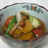 夏野菜の冷やしのっぺい風