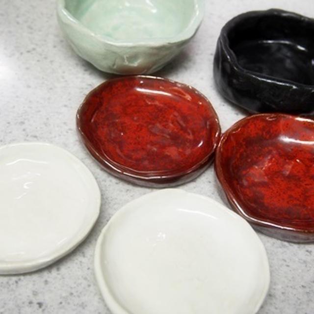 愛知県陶磁美術館で作った器たち。