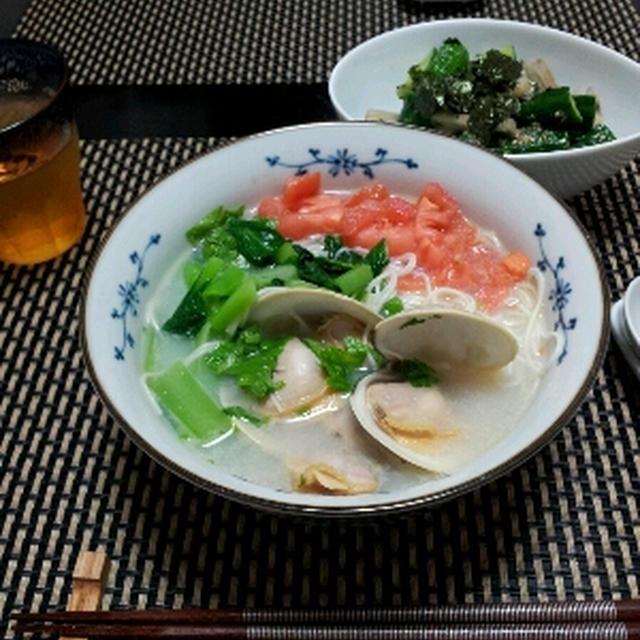 はまぐりのタイ風素麺