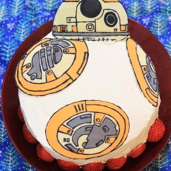 クリスマス★スターウォーズBBー8のケーキ