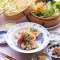鶏チャーシュー丼と蒸し野菜でおうちごはん