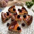 アマレーナ(さくらんぼのシロップ漬け)のベイクドチーズケーキ
