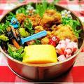 唐揚げのっけ弁&卵焼きの自己流焼き方*10/17のお弁当♪