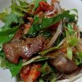 照り焼き豚のキムチサラダ