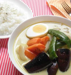 彩り野菜の豆乳スープカレー☆