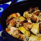 ジャガイモと鶏肉のハーブ焼き